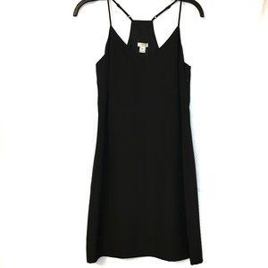 NWT J Crew black Tank Dress spaghetti strap 00